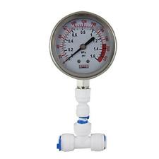 Water Pressure Gauge Stainless For Aquarium Meter 0-1.6MPa 0-220psi RO System