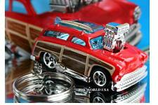 Custom Key Chain '51 Custom Ford Country Squire Red Woodie Surfer Wagon