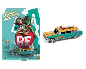 Johnny Lightning 1:64 1959 Cadillac Hearse Ambulance Rat Fink Special Editon