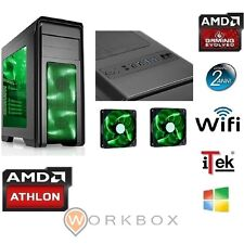 PC DESKTOP GAMING CYCLON GREEN ITEK AMD ATHLON X4860k RAM 16GB HD 1TB WIFI VIDEO