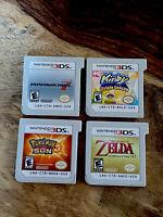 4-Nintendo 3DS Video Games Pokemon Sun Mario Kart 7 Kirby Triple Deluxe & Zelda