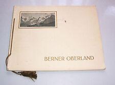 Bildband Berner Oberland Souvenir Album mit 42 Ansichten um 1920 Wehrliverlag !