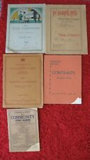 5 x Piano sheet music booklets by Edgar Moy Thos Hewitt Marjorie Helyer