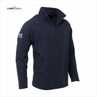JCB Mens Navy Top Micro Fleece Safety Pullover Work wear Security Jacket Zip