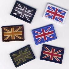 Union Jack UK Flag Badge Patch Hook Backing 4cm x 2.7cm