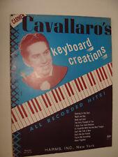 Carmen Cavallaro Keyboard Creations Recorded Hits 1946 piano book
