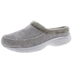 Easy Spirit Womens Travel Slip 2 Gray Mule Slippers 7.5 Medium (B,M) BHFO 9759