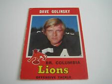 1971 O-PEE-CHEE CFL FOOTBALL DAVE GOLINSKY CARD #39 **B.C. LIONS**