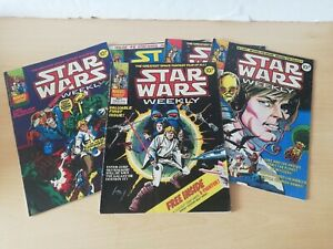 Star Wars Weekly No.1 Marvel UK 1978 plus issues 3,4, 9 and 17 rare comic lot