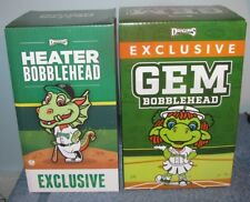 Dayton Dragons Gem and Heater Bobbleheads 2016 and 2017 Season Ticket Holders