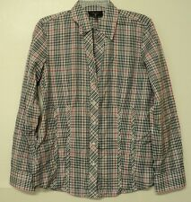 size 6 Foxcroft plaid fitted fit SHIRT non-iron cotton