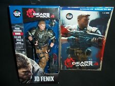McFarlane Toys JD Fenix Action Figure Gears of War 4 with Signed Post Card