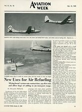 1949 Aviation Article Boeing B-29 Tanker Mid Air Refueling B-50 Bomber Air Force