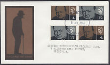 1965 Sir Winston Churchill both Phosphor & Ordinary FDC; relevant Bristol FDI