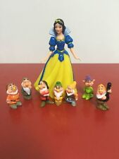 Disney Princess Snow White and The Seven Dwarfs Figures Cake Stand Topper Toy
