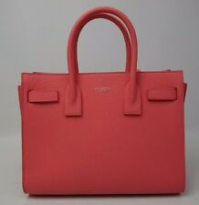 YSL Saint Laurent Small Sac De Jour Pink Grained Leather Tote