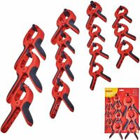 Amtech 14pc Spring Quick Grip Clamps Wood Work Carpentry Clamp 75mm - 200mm