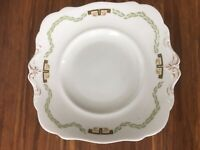 Old vintage antique  large cake-platters with gilding ,Paragon, China