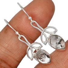 Herkimer Diamond - USA 925 Sterling Silver Earrings Jewelry AE137398 186X