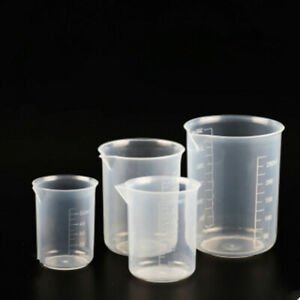 4X 50-500ml Measuring Jug Durable Plastic Laboratory Beaker Kitchen Liquid Cup