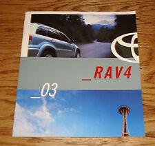 Original 2003 Toyota RAV4 Sales Brochure 03