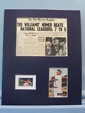 Red Sox Great Ted Williams home run wins 1941 All Star Game & his own stamp
