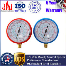 2Pcs High/low refrigerant pressure gauge PSI KPA Replace For R410A R134A R22