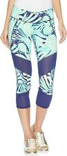 Lilly Pulitzer 169350 Womens Luxletic Crop Leggings Bright Navy Size X-Large