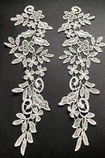 Ivory Floral Motif 2 Pieces Applique Sewing Craft Venise Lace Trim Buy4Get1Free