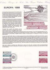 Document Philatélique Timbre 1er Jour : 30/04/ 1988 - Europa Transport Urbain