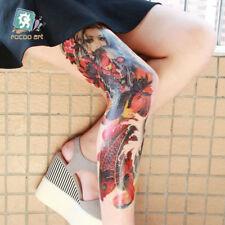 REGNO Unito STRAPPO GIRL SKULL Carp COMPLETO BRACCIO Tatuaggio temporaneo adesivo 3D Gamba