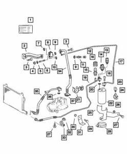 Genuine Mopar Expansion Valve To Compressor Line 5124647AA