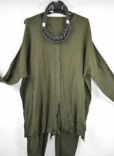 STUNNING BARBARA SPEER ORGANIC COTTON CARDIGAN/JACKET SZ L/XL/XXL GREEN