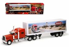 New Ray 1:32 Long Haul Trucker Peterbilt Model 389 Route 66 Design Semi Trucks