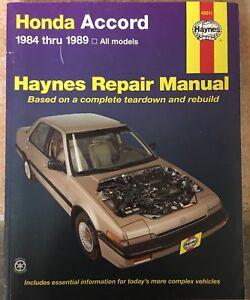 HAYNES REPAIR MANUAL HONDA ACCORD 1984-1989 HONDA 42011