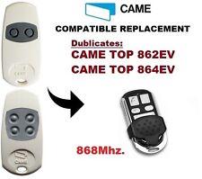 CAME TOP862EV, TOP864EV 868Mhz Garage Door/Gate Remote Control Duplicator