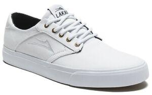 Lakai Shoes Porter White Canvas USA SIZE Skateboard Sneakers