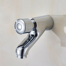 Brass Self Closing Tap Bathroom Basin Push Faucet Chrome Single Lever Wall Mount