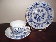 ✿ Kaffee Gedeck - Form Marienbad - Ingres Weiss - Zwiebelmuster Blau  ✿