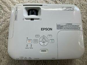 Epson EX3212 Projector Portable SVGA 3LCD, 2800 lumens color brightness used