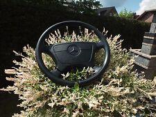 Original Mercedes volante de cuero volante SRS negro r129 w124 w126 w140 w202 w463