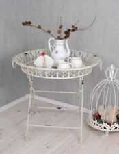 White tea table coffee table Shabby Chic Metal table Garden table