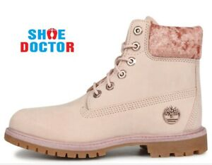 Timberland Women's Premium 6 Inch  Waterproof Boot Lt Pink Nubuck Velvt A24K6