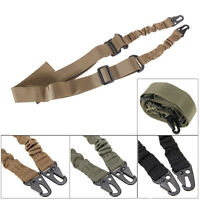 New Hot Tactical Two 2 Dual Point Adjustable Bungee Rifle Gun Sling System Strap