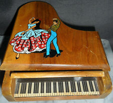 "Vintage Reuge Piano Musical Jewellery Box ~ Plays ""Jura Song"" ~ Switzerland"