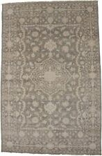 Hand-Knotted Floral Transitional 6X9 Muted Brown Oriental Rug Home Decor Carpet