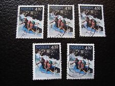NORVEGE - timbre yvert et tellier n° 1081 x5 obl (A04) stamp norway (A)