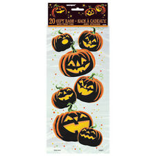 20 Halloween Spooky Pumpkin Treat Gift Loot Cellophane Party Bags & Twist Ties