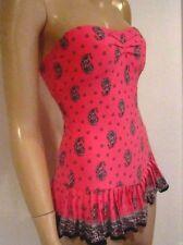 Juicy Couture NWT Paisley Bandeau Semi Boho One Piece  Swimsuit Size S