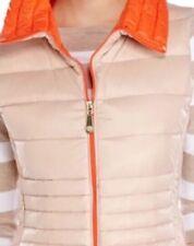 Gorgeous Womens VINCE CAMUTO Packable Down Vest, Nude/Orange, Large Retail $200